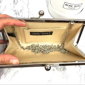 Charming Charlie Bags - NWOT Charming Charlie Pearl and Rhinestone Clutch